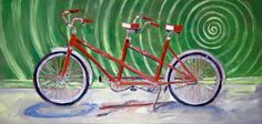 Tandem Bicycle Built for Two Art Print 17 x 11 by RealArtIsBetter, $45.00