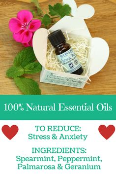 Spearmint, peppermint, palmarosa and geranium – all ethically sourced from the best growing areas from around the world – are especially powerful for reducing stress and soothing a busy or anxious mind.