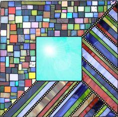 Mosaic mirror - Spic n Span. $65.00, via Etsy.