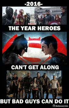 Heroes can't get along, civil war, suicide squad
