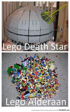 That loud cry Obi Wan heard was me stepping on Alderan at night