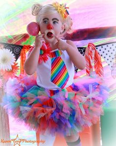 Inspiration...Quinn wants to be a clown for Halloween.  And I am going to make her costume this year!