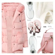 """puffer"" by meyli-meyli ❤ liked on Polyvore featuring Dr. Martens, Packandgo, yoins, yoinscollection, loveyoins and puffers"