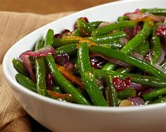 Our Orange & Maple Glazed Cranberry Green Beans will please the whole family.