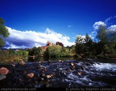 Sedona, Arizona, Red Rock Crossing with Cathedral Rock overlooks Oak Creek