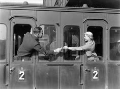 Waldschmidt and Sandhaus with cigarettes in compartment car, Amsterdam , ca 1932, Willem van de Poll. Dutch (1895 - 1970) (Source:  retours.eu  )