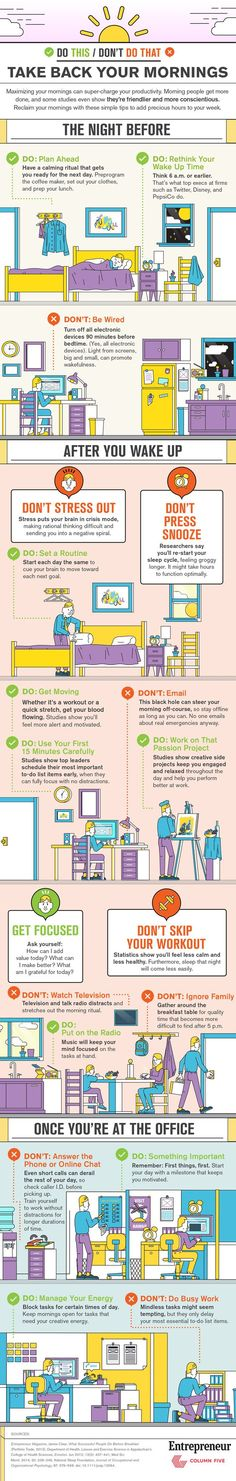 good sleep hygiene and ways to start your day off right.