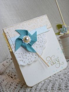 Paper Wishes pinwheel, banner, pearl, and doily.. i'm in!