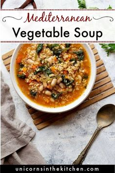 Quick and easy Instant pot vegetable soup with a Mediterranean twist. This pressure cooker soup recipe is perfect as a light dinner or lunch with only 140 calories per serving! Make sure to watch the video to learn how to make Mediterranean vegetable soup in instant pot.