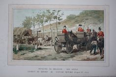 Kingdom of Belgium leopold I - 1830 Royal carriage voiture royale 19th century from cortège historique des moyens de transport, 1886, chromo lithography.