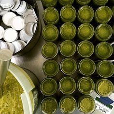 Green Goddess: pineapple, kale spinach, carrot, parsley, wheatgrass, lemon, chia, pumpkin seeds. #howtosantafe #santafecolor #verdejuice #organic #coldpressedjuice #purenm