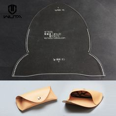Clear Acrylic Plexiglass Leathercraft paper pattern  template eyeglasses case