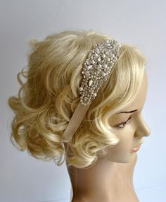 Ready to ship Crystal Applique Headband Absolutely Dazzling Finest Crystal Rhinestone headband will take your breath away! Perfect for a vintage