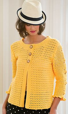 I LOVE this Wear Everywhere Sweater by Ann E. Smith ~ It's in Crochet! Magazine Summer 2012