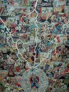 El Maravilloso arte del Comic Collage de Mike Alcantara
