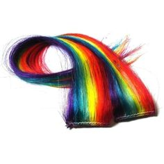 Rainbow Hair Extensions Vertical Striped Rainbow by IKickShins, $18.00