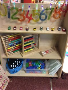 EYFS maths counting shelves continuous provision