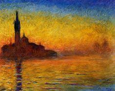 Crepúsculo, Venecia Claude Monet Museo de Arte Bridgestone
