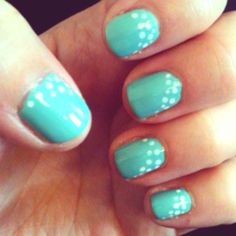 White dots over China Glaze For Audry