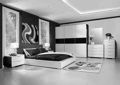 Interior Designs Beauty Black And White Bedroom Design Furniture With Dazzling