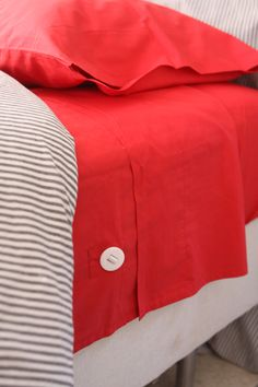 New bedding for kids by Sleep Number. Lots of fun colors and patterns. The elastic buttons on the side mean that the top sheet stays put, even with a restless sleeper.
