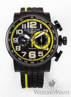 c8b21a42db Graham Silverstone Stowe Yellow Racing Chrono- 48mm PVD  5
