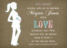 Twins Baby Shower Invitation -- It's Twins.  via Etsy.