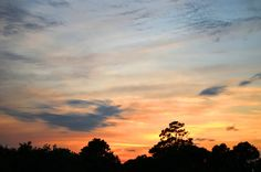 sunset from the top of the Widow's Walk at The Inlet Sports Lodge, south of Myrtle Beach in Coastal South Carolina