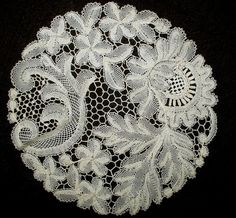 The Gatherings Antique Vintage - Antique Vintage Victorian 1900s Needlelace  Handmade Table Doily Round, $22.50 (http://store.the-gatherings-antique-vintage.net/antique-vintage-victorian-1900s-needlelace-handmade-table-doily-round/)