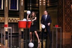 Tonight Show: Jimmy Fallon Plays Beer Pong With Nina Dobrev [Recap & Video]