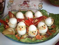Egy finom Húsvéti csibék (töltött tojás) ebédre vagy vacsorára? Húsvéti csibék (töltött tojás) Receptek a Mindmegette.hu Recept gyűjteményében! Naan, Eggs, Breakfast, Food, Magic, Club, Spring, Google, Life