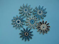"Ceramic Abstract Flowers by ""One of a Kind"""
