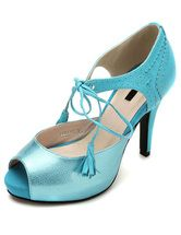 Sweet Sky Blue Sheepskin Ankle Strap Women's Peep Toe High Heels. Enjoy unbeatable discounts up to 70% Off at Milanoo using Coupon & Promo Codes.