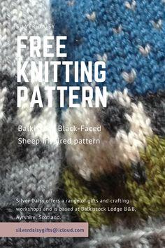 Free knitting pattern .... Balkissock black-faced sheep inspired hat pattern. #knitting #freepattern