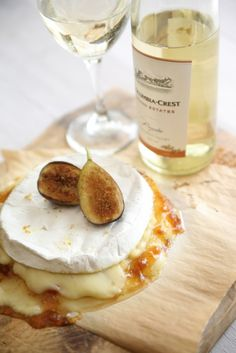 Brie and Figs paired with Moscato