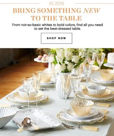 IN 2016 BRING SOMETHING NEW TO THE TABLE | From not-so-basic  sc 1 st  Pinterest & Easy Table Settings for Every Occasion | Reading room | Pinterest ...