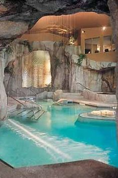 """""""View this Great Eclectic Swimming Pool with Indoor pool & exterior stone floors. Discover & browse thousands of other home design ideas on Zillow Digs."""""""