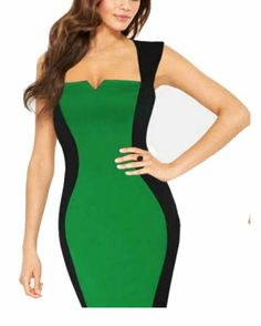 Kawen Women's Striped Optical Illusion Colorblock Fitted Pencil Dress (L, Green) KaWen http://www.amazon.com/dp/B00IP0UNYA/ref=cm_sw_r_pi_dp_m3oNtb0BNH4FPHXV