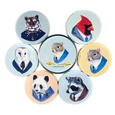 Berkley Illustration Coaster Set, $15, now featured on Fab. [Common Rebels]