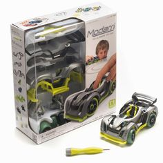 This isn't your average toy car. The interchangeable parts can create seemingly endless combinations. This toy will never get old. Car Set, Building Toys, Courses, Car Parts, Race Cars, Super Cars, Racing, Unisex, Gift Ideas