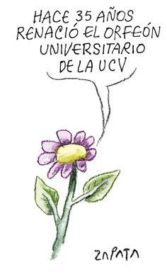 Orfeón de la UCV. Caricatura de Zapata en la página de Opinión. Caracas, 26-03-2012 (PEDRO LEON ZAPATA / EL NACIONAL).