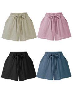 Plus Size Women Summer High Waist Loose Shorts Wide Leg Pants Trousers Culottes Outfits Plus Size, Plus Size Shorts, Loose Shorts, Casual Shorts, Looks Plus Size, Wide Leg Pants, Plus Size Women, Online Price, Short Dresses
