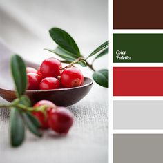 The basic tone of soft red is shaded by stronger dark green and brown. Soft light gray and gray balance this colour gamma. It is a perfect choice for hallw.