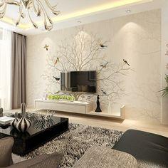 3d立体欧式客厅简约现代电视背景墙壁纸无缝壁画墙纸温馨卧室装饰