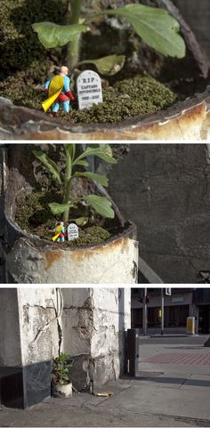 """Dynamic Duo"" - By Slinkachu, Southwalk, London"