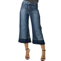 4884e6994a 10 melhores imagens de Jeans pantacourt - flare curta e larga ...