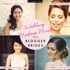 blogger brides share their secrets to a perfectly pretty wedding day look // love these tips!