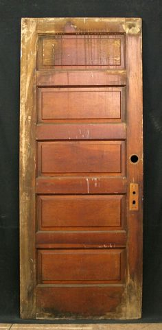 """8 Available 32"""" Width Antique Interior Solid Pine Wood Doors 5 Raised Panels"""