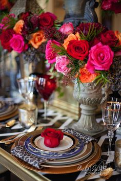 Tablescape | Inspired By Louboutin At Graydon Hall | Rachel A. Clingen Wedding & Event Design