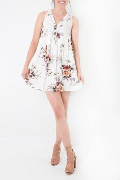 5815e877f8e Umgee USA White Floral Dress. Apricot LaneLace ...
